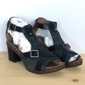 Dankso Dominique Open Toe Heel Sandals Shoes Black
